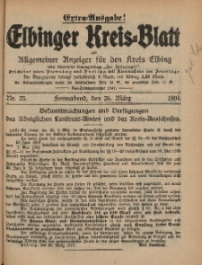 Kreis-Blatt des Königlich Preußischen Landraths-Amtes zu Elbing, Nr. 25 Sonnabend 26 März 1910