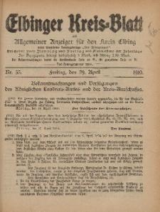Kreis-Blatt des Königlich Preußischen Landraths-Amtes zu Elbing, Nr. 35 Freitag 29 April 1910