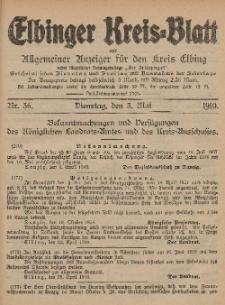 Kreis-Blatt des Königlich Preußischen Landraths-Amtes zu Elbing, Nr. 36 Dienstag 3 Mai 1910