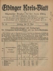 Kreis-Blatt des Königlich Preußischen Landraths-Amtes zu Elbing, Nr. 43 Freitag 27 Mai 1910