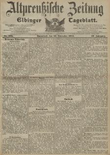 Altpreussische Zeitung, Nr. 278 Sonnabend 26 November 1904, 56. Jahrgang
