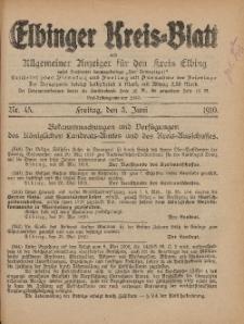 Kreis-Blatt des Königlich Preußischen Landraths-Amtes zu Elbing, Nr. 45 Freitag 3 Juni 1910