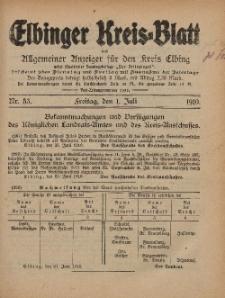 Kreis-Blatt des Königlich Preußischen Landraths-Amtes zu Elbing, Nr. 53 Freitag 1 Juli 1910