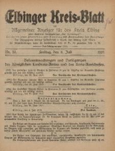 Kreis-Blatt des Königlich Preußischen Landraths-Amtes zu Elbing, Nr. 55 Freitag 8 Juli 1910