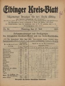 Kreis-Blatt des Königlich Preußischen Landraths-Amtes zu Elbing, Nr. 56 Dienstag 12 Juli 1910