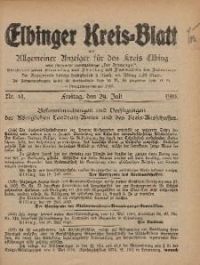 Kreis-Blatt des Königlich Preußischen Landraths-Amtes zu Elbing, Nr. 61 Freitag 29 Juli 1910