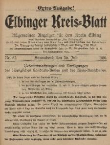 Kreis-Blatt des Königlich Preußischen Landraths-Amtes zu Elbing, Nr. 62 Sonnabend 30 Juli 1910