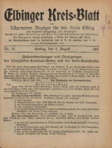 Kreis-Blatt des Königlich Preußischen Landraths-Amtes zu Elbing, Nr. 64 Freitag 5 August 1910