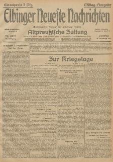 Elbinger Neueste Nachrichten, Nr. 343 Dienstag 15 Dezember 1914 66. Jahrgang