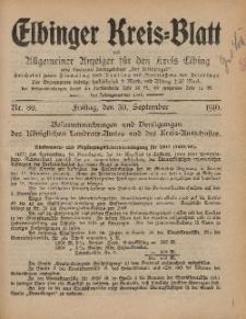 Kreis-Blatt des Königlich Preußischen Landraths-Amtes zu Elbing, Nr. 80 Freitag 30 September 1910