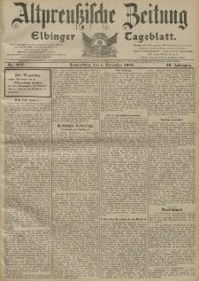 Altpreussische Zeitung, Nr. 282 Donnerstag 1 Dezember 1904, 56. Jahrgang