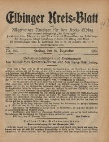 Kreis-Blatt des Königlich Preußischen Landraths-Amtes zu Elbing, Nr. 103 Freitag 16 Dezember 1910
