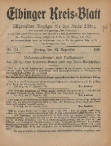 Kreis-Blatt des Königlich Preußischen Landraths-Amtes zu Elbing, Nr. 105 Freitag 23 Dezember 1910