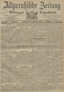 Altpreussische Zeitung, Nr. 285 Sonntag 4 Dezember 1904, 56. Jahrgang