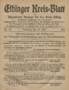 Kreis-Blatt des Königlich Preußischen Landraths-Amtes zu Elbing, Nr. 60 Dienstag 27 Juli 1915