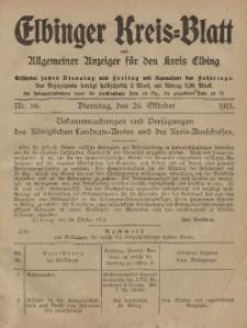Kreis-Blatt des Königlich Preußischen Landraths-Amtes zu Elbing, Nr. 86 Dienstag 26 Oktober 1915