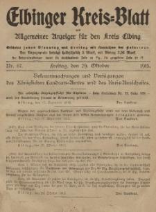 Kreis-Blatt des Königlich Preußischen Landraths-Amtes zu Elbing, Nr. 87 Freitag 29 Oktober 1915