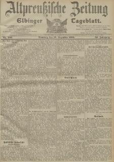 Altpreussische Zeitung, Nr. 292 Dienstag 13 Dezember 1904, 56. Jahrgang