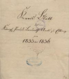 Kreis-Blatt des Königl. Preuß. Landraths-Amtes zu Elbing pro 1833 bis 1836