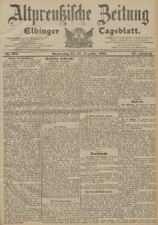 Altpreussische Zeitung, Nr. 300 Donnerstag 22 Dezember 1904, 56. Jahrgang