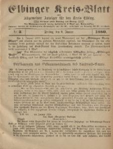 Kreis-Blatt des Königlich Preußischen Landraths-Amtes zu Elbing, Nr. 3 Freitag 9 Januar 1880