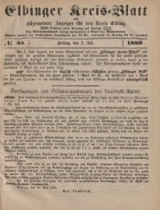 Kreis-Blatt des Königlich Preußischen Landraths-Amtes zu Elbing, Nr. 53 Freitag 2 Juli 1880