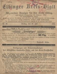 Kreis-Blatt des Königlich Preußischen Landraths-Amtes zu Elbing, Nr. 58 Freitag 20 Juli 1894