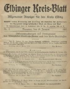 Kreis-Blatt des Königlich Preußischen Landraths-Amtes zu Elbing, Nr. 5 Dienstag 18 Januar 1916