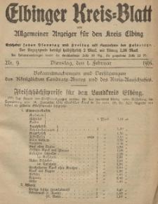Kreis-Blatt des Königlich Preußischen Landraths-Amtes zu Elbing, Nr. 9 Dienstag 1 Februar 1916