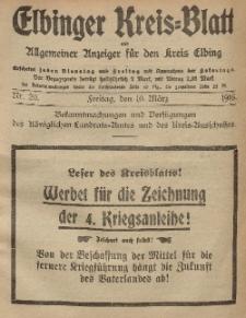 Kreis-Blatt des Königlich Preußischen Landraths-Amtes zu Elbing, Nr. 20 Freitag 10 März 1916
