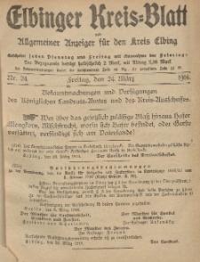 Kreis-Blatt des Königlich Preußischen Landraths-Amtes zu Elbing, Nr. 24 Freitag 24 März 1916