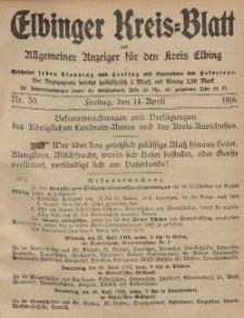 Kreis-Blatt des Königlich Preußischen Landraths-Amtes zu Elbing, Nr. 30 Freitag 14 April 1916