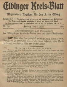 Kreis-Blatt des Königlich Preußischen Landraths-Amtes zu Elbing, Nr. 36 Freitag 5 Mai 1916