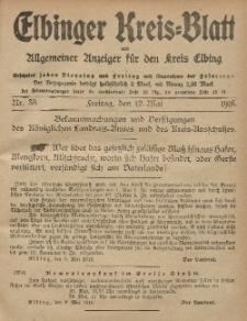 Kreis-Blatt des Königlich Preußischen Landraths-Amtes zu Elbing, Nr. 38 Freitag 12 Mai 1916