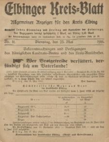 Kreis-Blatt des Königlich Preußischen Landraths-Amtes zu Elbing, Nr. 41 Dienstag 23 Mai 1916