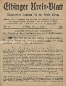 Kreis-Blatt des Königlich Preußischen Landraths-Amtes zu Elbing, Nr. 50 Freitag 23 Juni 1916