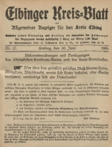 Kreis-Blatt des Königlich Preußischen Landraths-Amtes zu Elbing, Nr. 53 Dienstag 4 Juli 1916