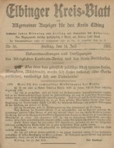 Kreis-Blatt des Königlich Preußischen Landraths-Amtes zu Elbing, Nr. 56 Freitag 14 Juli 1916