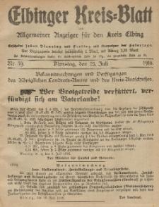Kreis-Blatt des Königlich Preußischen Landraths-Amtes zu Elbing, Nr. 59 Dienstag 25 Juli 1916