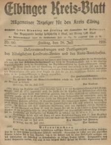 Kreis-Blatt des Königlich Preußischen Landraths-Amtes zu Elbing, Nr. 60 Freitag 28 Juli 1916