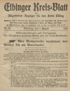 Kreis-Blatt des Königlich Preußischen Landraths-Amtes zu Elbing, Nr. 61 Dienstag 1 August 1916