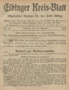 Kreis-Blatt des Königlich Preußischen Landraths-Amtes zu Elbing, Nr. 68 Freitag 25 August 1916