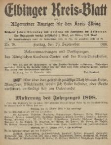 Kreis-Blatt des Königlich Preußischen Landraths-Amtes zu Elbing, Nr. 78 Freitag 29 September 1916