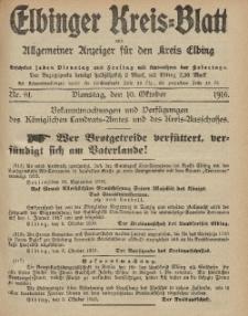 Kreis-Blatt des Königlich Preußischen Landraths-Amtes zu Elbing, Nr. 81 Dienstag 10 Oktober 1916