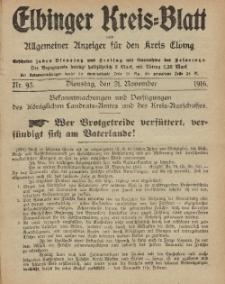 Kreis-Blatt des Königlich Preußischen Landraths-Amtes zu Elbing, Nr. 93 Dienstag 21 November 1916