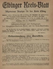 Kreis-Blatt des Königlich Preußischen Landraths-Amtes zu Elbing, Nr. 100 Freitag 15 Dezember 1916