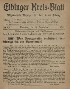 Kreis-Blatt des Königlich Preußischen Landraths-Amtes zu Elbing, Nr. 101 Dienstag 19 Dezember 1916