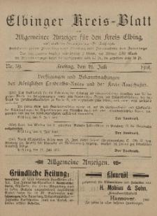 Kreis-Blatt des Königlich Preußischen Landraths-Amtes zu Elbing, Nr. 59 Freitag 19 Juli 1901