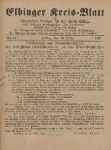 Kreis-Blatt des Königlich Preußischen Landraths-Amtes zu Elbing, Nr. 24 Freitag 28 März 1890