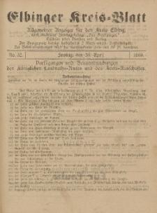 Kreis-Blatt des Königlich Preußischen Landraths-Amtes zu Elbing, Nr. 32 Freitag 25 April 1890